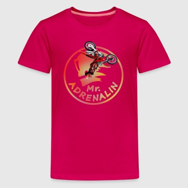 Motocross Mr. Adrenalin - T-shirt Premium Ado