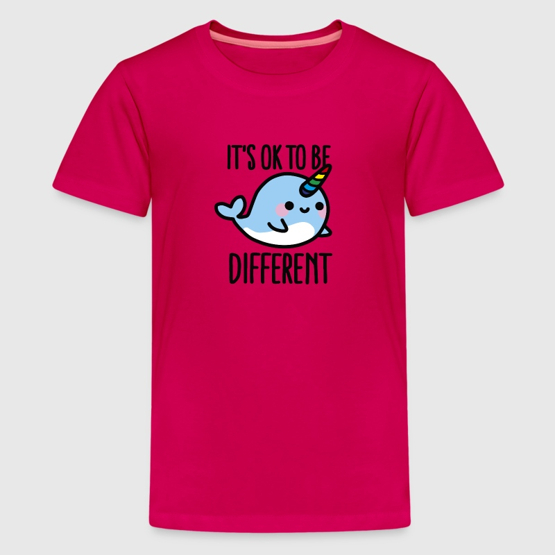 It's ok to be different - Teenage Premium T-Shirt