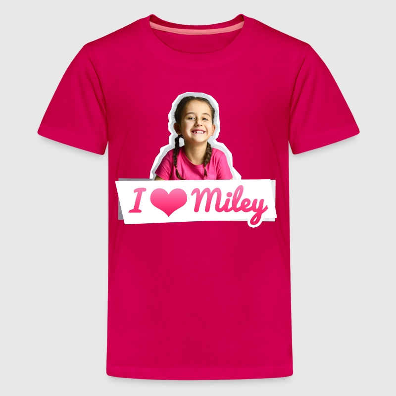 Mileys World I Love Miley Spruch Und Foto - Teenager Premium T-Shirt