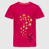 Herfstbladeren in de wind - 3 kleuren - Teenager Premium T-shirt