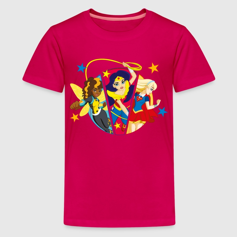 DC Super Hero Girls Bumblebee Wonder Woman Supergi - Teenager Premium T-shirt