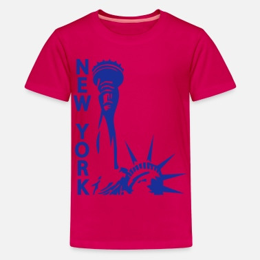 Lady Liberty Lady Liberty, New York, NY, Freiheitsstatue, Statue of Liberty, www.eushirt.com - Teenager Premium T-Shirt