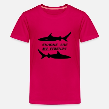 Sharks are my friends - T-shirt premium Ado