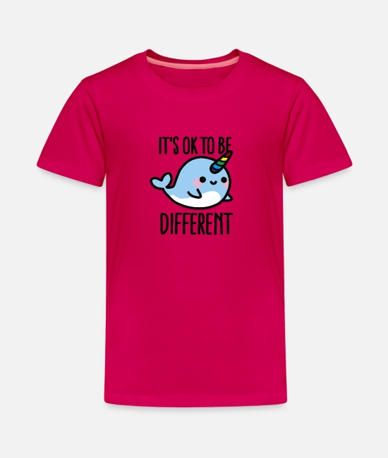 Be Different T-Shirts - It's ok to be different - Teenager Premium T-Shirt dunkles Pink