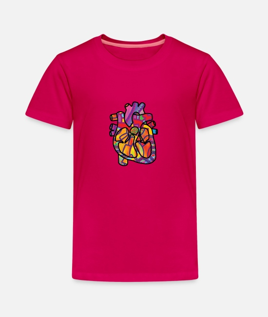 Love T-Shirts - The true energetic heart - Teenage Premium T-Shirt dark pink