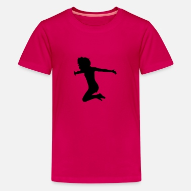 Sprong vrouw sprong - Teenager premium T-shirt