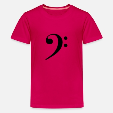Bass Player Bass Clef - Teenage Premium T-Shirt