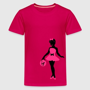 fifties girl with cat design by patjila - Teenager Premium T-shirt