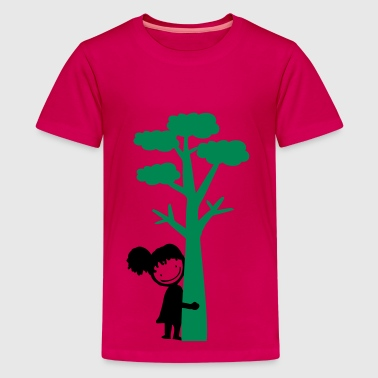 tree hugger girl - Teenage Premium T-Shirt