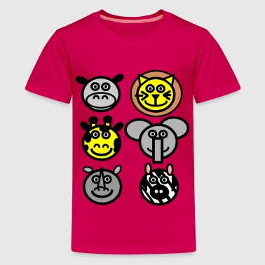 zoo animals - T-shirt Premium Ado