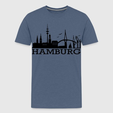 Hamburg Skyline - Teenager Premium T-Shirt