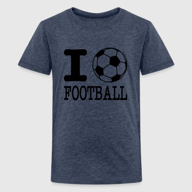 i love football with ball - Teenage Premium T-Shirt