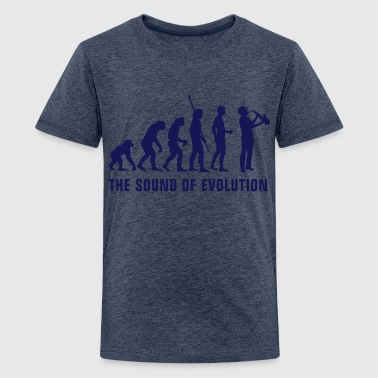 evolution_saxophon_b_1c - Teenage Premium T-Shirt