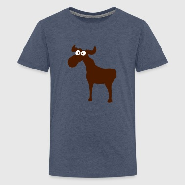 Elk Moose Sweden Norway Skandinavia  - Teenage Premium T-Shirt