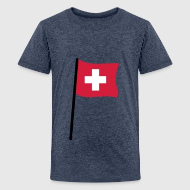 Schweizer Flagge - Teenager Premium T-Shirt