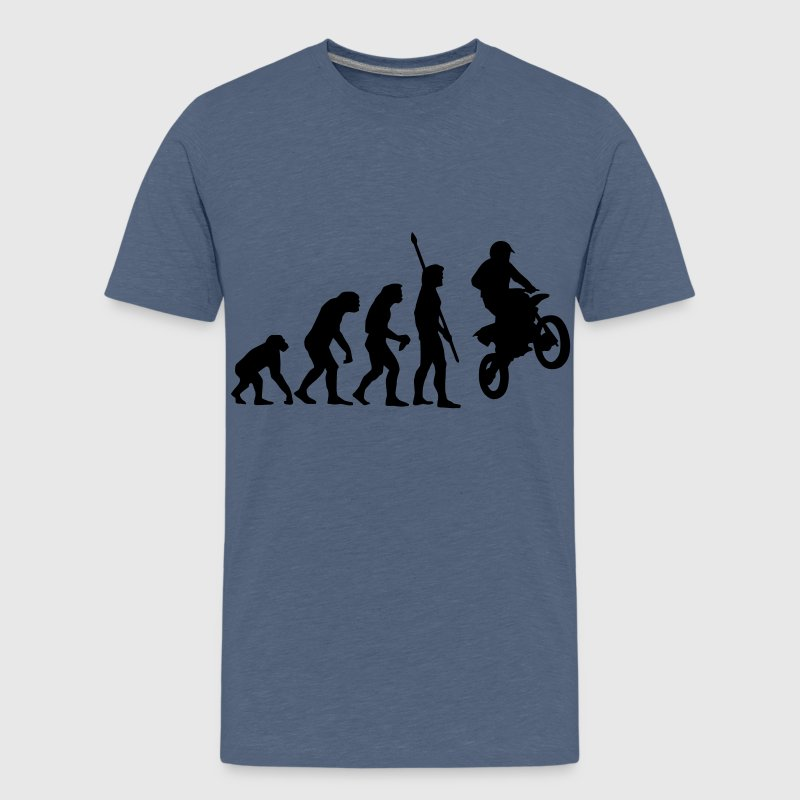 evolution_motorbike_stunt_a_1c - Teenager Premium T-Shirt