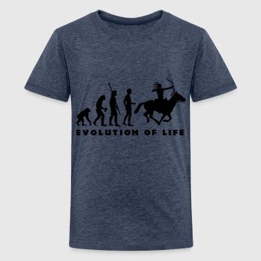 evolution_indianer_b - Camiseta premium adolescente