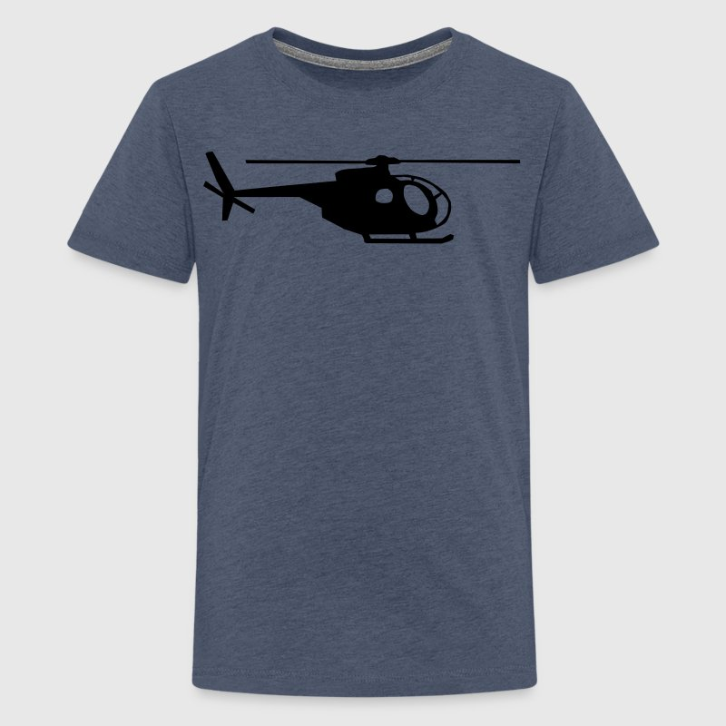 helicopter kids military rc - Teenage Premium T-Shirt