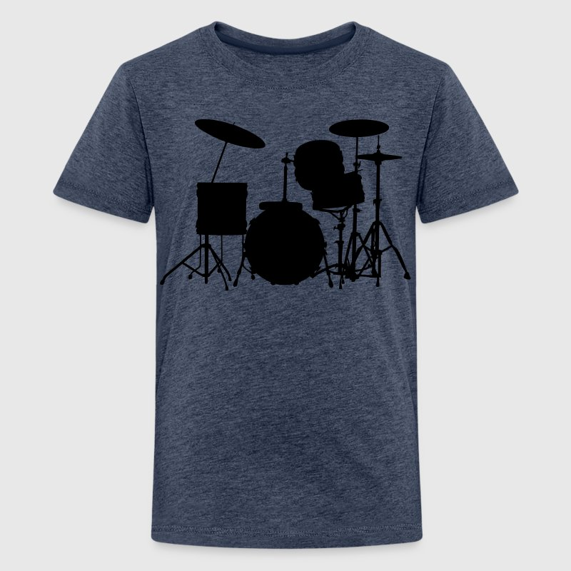 music drums drum set - Teenager Premium T-shirt