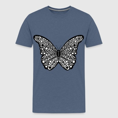 Spotty Butterfly - Teenage Premium T-Shirt