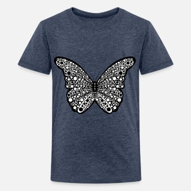 Spotty Spotty Butterfly - Teenage Premium T-Shirt