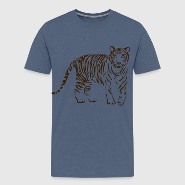 tiger katze löwe puma lion cougar cat zoo wild tiershirt shirt tiermotiv tigermotiv party - Teenager Premium T-Shirt