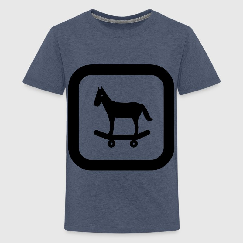 sign skateboard horse kids - Premium-T-shirt tonåring