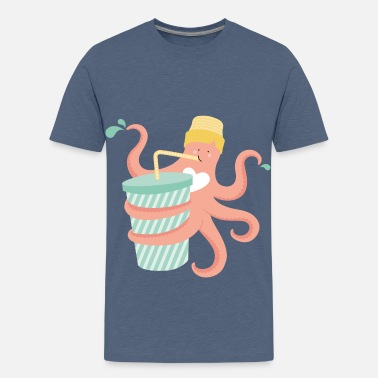 Summer Ts & Tanks THIRSTY OCTUPUS 2.0 - Teenage Premium T-Shirt