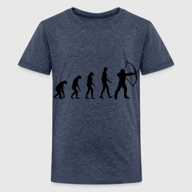 Evolution Bogenschießen - Teenager Premium T-Shirt