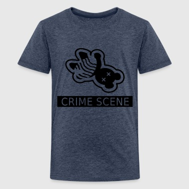 gerningssted teddy / crime scene teddy (1c) - Teenager premium T-shirt