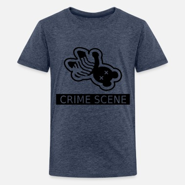 Gerningssted gerningssted teddy / crime scene teddy (1c) - Teenager premium T-shirt