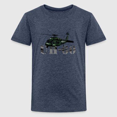 helicopter UH-60 - Teenage Premium T-Shirt