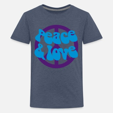 Funky Peace and Love - Teenager Premium T-Shirt