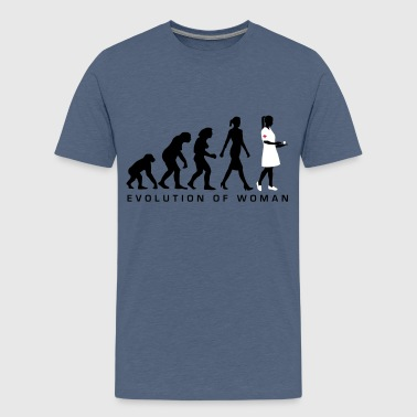 evolution_krankenschwester_122012_b_3c - Teenager Premium T-Shirt