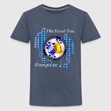 Scotland football blue tartan - Teenage Premium T-Shirt