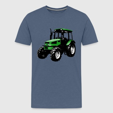 Trecker, Traktor, Schlepper - grün - Teenager Premium T-Shirt