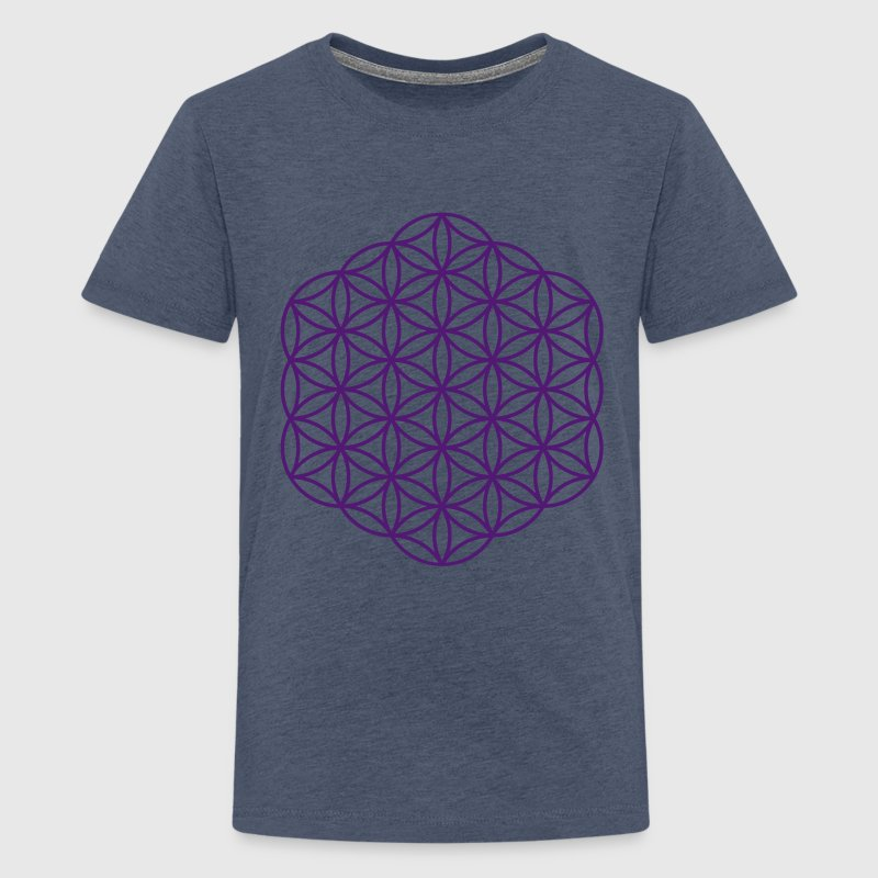 Blume des Lebens - Hexagon - Teenager Premium T-Shirt