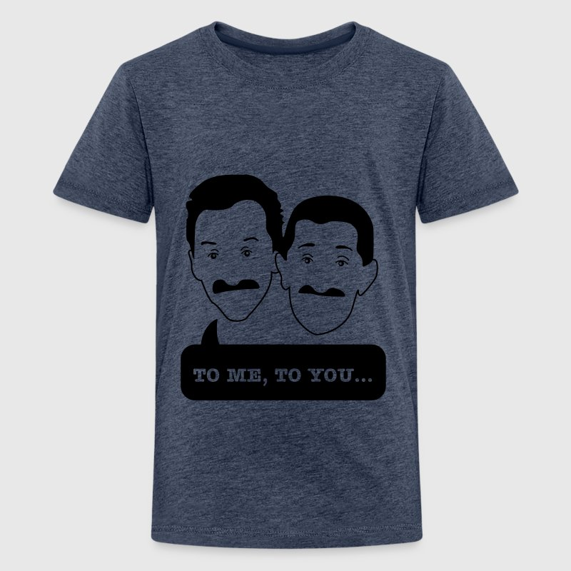 Movember - Chuckle Brothers - Teenage Premium T-Shirt