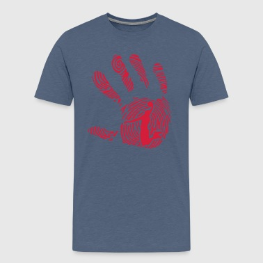 basketball fingerabdruck hand 1010 - Teenager Premium T-Shirt