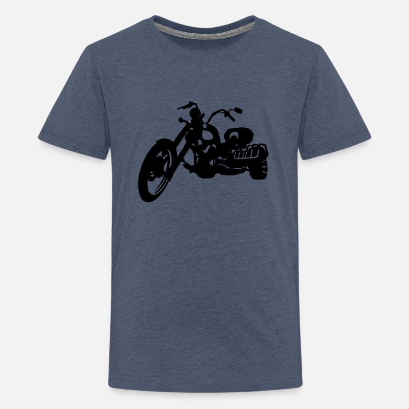 Tricycle T-shirts - trike - T-shirt premium Ado bleu chiné