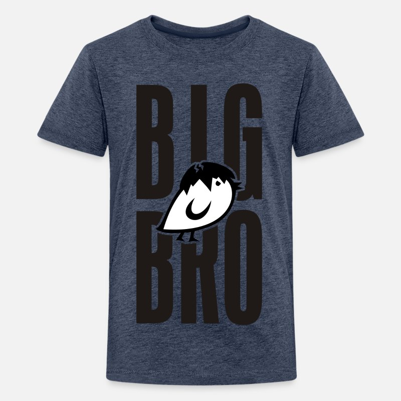 Tier T-Shirts - TWEETLERCOOLS - BIG BRO KÜKEN - Teenager Premium T-Shirt Blau meliert