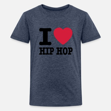 Hiphop I love hiphop   I heart hiphop - T-Shirt premium per ragazzi 9419426a1a9d