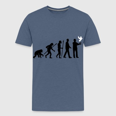evolution_of_man_taubenzuechter03_2c - Teenager Premium T-Shirt