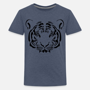 Tiger Tribal - Teenage Premium T-Shirt