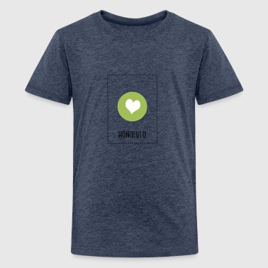 I Love Honolulu - Teenage Premium T-Shirt