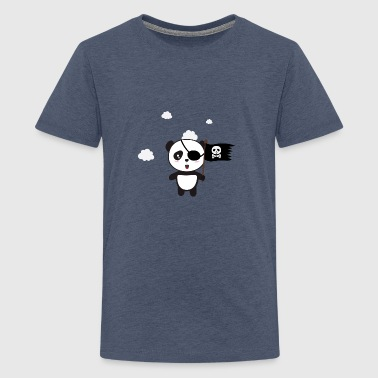 Pirate Panda mit Flagge - Teenager Premium T-Shirt