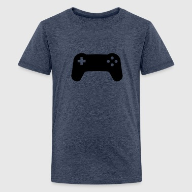 Controller console gamer player - Teenage Premium T-Shirt