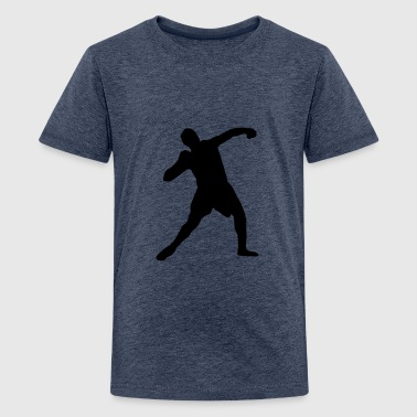 Kogelstoten shot put - track and field - Teenager Premium T-shirt