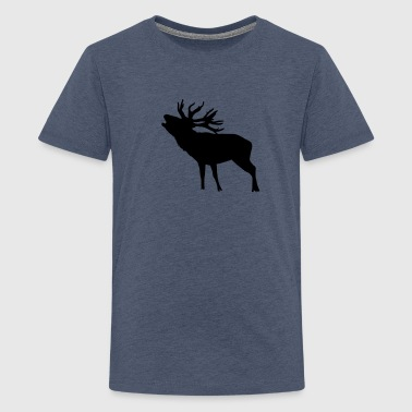 Deer Antler deer - Teenage Premium T-Shirt