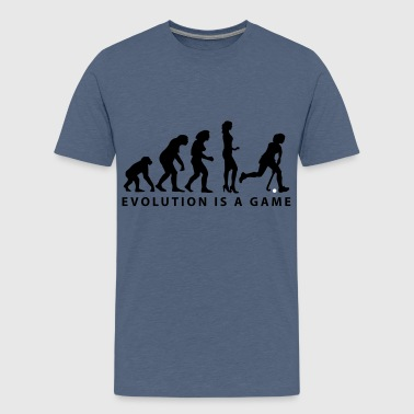 evolution_hockey_woman_b_2c - Teenager Premium T-Shirt